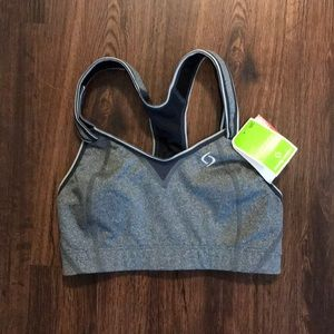 NWT heather gray moving comfort sport bra 32c